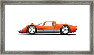 Porsche 906 Illustration Framed Print by Alain Jamar