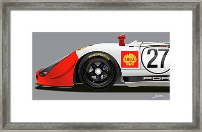Porsche 908 Detail Illustration Framed Print by Alain Jamar