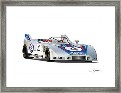 Porsche 908 Martini Framed Print by Alain Jamar