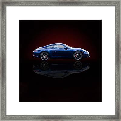Porsche 911 Carrera - Blue Framed Print