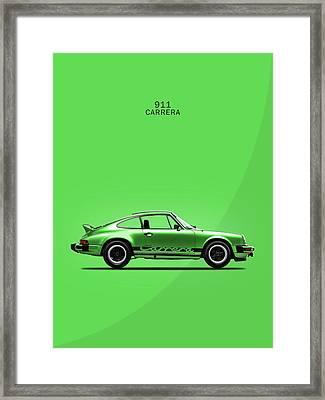 Porsche 911 Carrera Green Framed Print