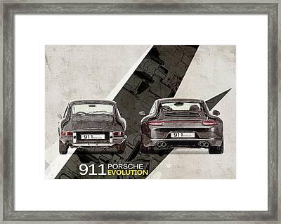 Porsche 911 Evolution Framed Print