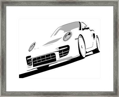 Porsche 911 Gt2 White Framed Print by Michael Tompsett