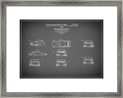 Porsche 911 Patent 1964 Framed Print