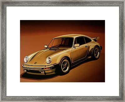 Porsche 911 Turbo 1976 Painting Framed Print by Paul Meijering
