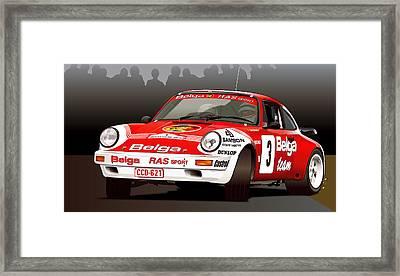Porsche 911 Rally Illustration Framed Print
