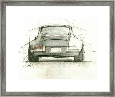 Porsche 911 Rs Framed Print by Juan Bosco