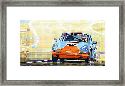 Porsche 911 S  Classic Le Mans 24  Framed Print by Yuriy  Shevchuk