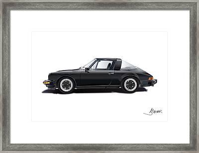 porsche 911 SC Targa Framed Print