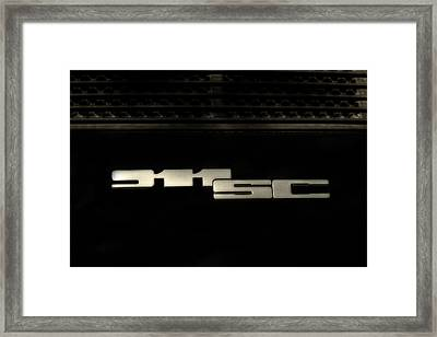 Porsche 911 Sc Targa Badge Framed Print by Georgia Fowler