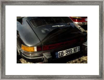 Porsche 911 Sc Targa Rear Framed Print by Georgia Fowler