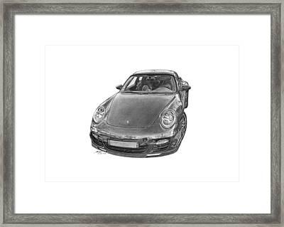 Porsche 911 Turbo Framed Print by Gabor Vida