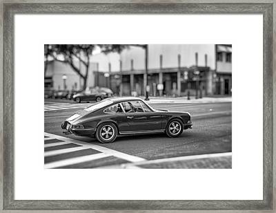 Framed Print featuring the photograph Porsche 911e by Howard Salmon