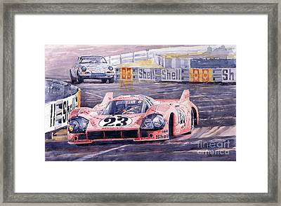 Porsche 917-20 Pink Pig Le Mans 1971 Joest Reinhold Framed Print by Yuriy  Shevchuk
