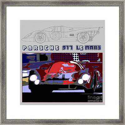 Porsche 917 Graphic Framed Print by Curt Johnson