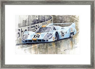 Porsche 917 Lh 24 Le Mans 1971 Rodriguez Oliver Framed Print by Yuriy  Shevchuk