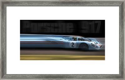 Porsche 917 Framed Print by Peter Chilelli
