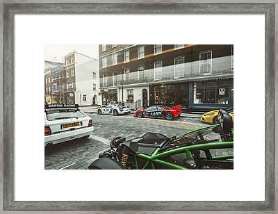 Porsche 918 Mclaren F1 Gtr Ferrari Specialea Ariel Nomad And Lancia Delta Integrale Framed Print