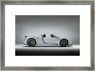 Framed Print featuring the digital art Porsche 918 Spyder by Douglas Pittman