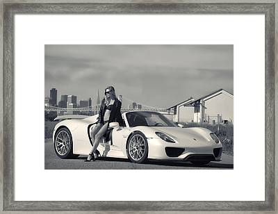 #porsche #918spyder And #kim Framed Print by ItzKirb Photography