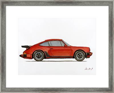 Porsche 930 Turbo 911 Framed Print by Juan  Bosco