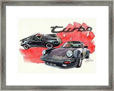 Porsche 930 Turbo Framed Print by Yoshiharu Miyakawa