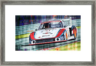 Porsche 935 Coupe Moby Dick Martini Racing Team Framed Print by Yuriy  Shevchuk