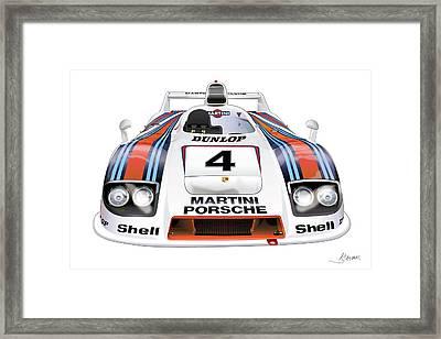 Porsche 936 Spyder 1980 Framed Print by Alain Jamar