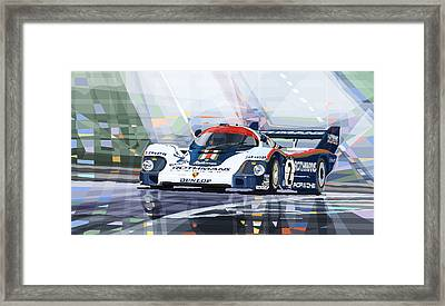 Porsche 956 Rothmans 1982 1000km Francorchamps Derek Bell Framed Print by Yuriy  Shevchuk