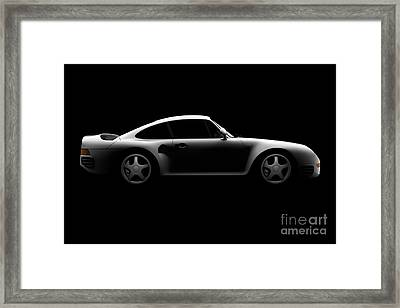 Porsche 959 - Side View Framed Print