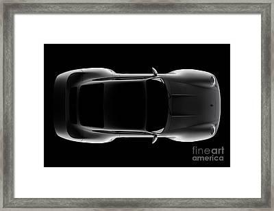Porsche 959 - Top View Framed Print