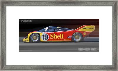 Porsche 962 Andretti Framed Print by Ed Dooley