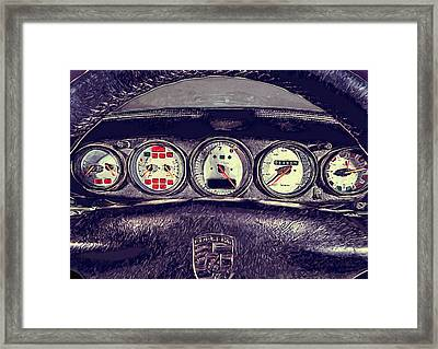 Porsche 993 Turbo Dashboard Framed Print
