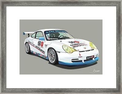 Porsche 996 Gt3 Cup Framed Print by Alain Jamar