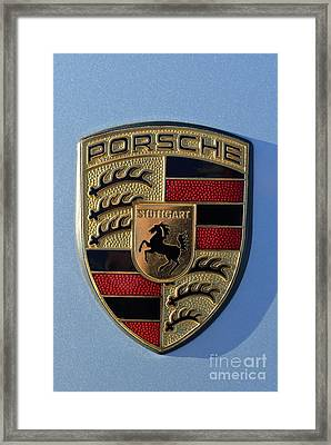 Porsche Badge Framed Print
