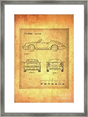 Porsche Blueprint Framed Print