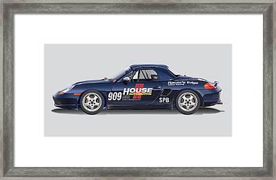 Porsche Boxster Racer Image Framed Print by Alain Jamar