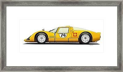 Porsche Carrera 906 Illustration Framed Print by Alain Jamar
