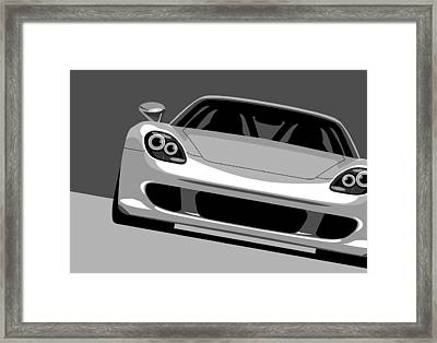Porsche Carrera Gt Framed Print by Michael Tompsett