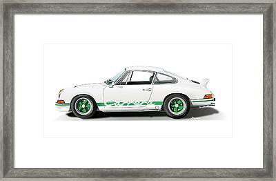 Porsche Carrera Rs Illustration Framed Print