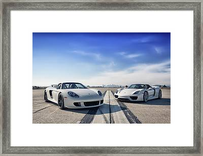 #porsche #carreragt And #918spyder Framed Print