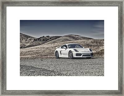 Porsche Cayman Gt4 In The Wild Framed Print