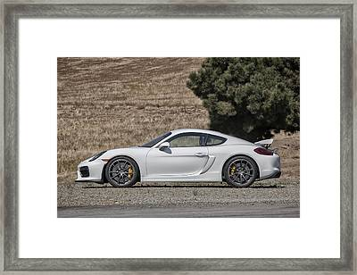 Porsche Cayman Gt4 Side Profile Framed Print