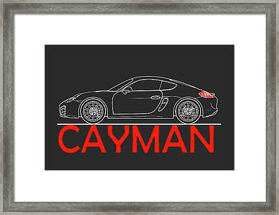 Porsche Cayman Phone Case Framed Print by Mark Rogan