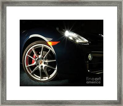 Porsche Cayman S Night Detail Framed Print
