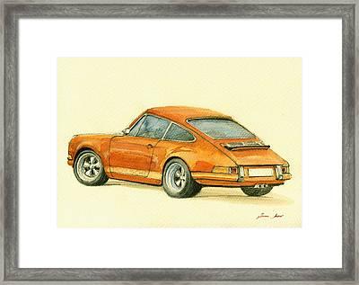 Porsche Classic Art 911 Framed Print by Juan  Bosco