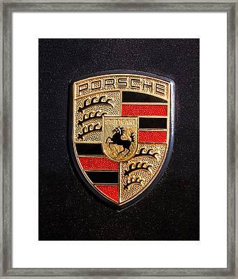 Porsche Emblem -211c Framed Print by Jill Reger