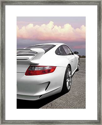 Porsche Gt3 Cs At Sunset Framed Print