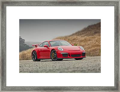 Framed Print featuring the photograph Porsche 991 Gt3 by ItzKirb Photography