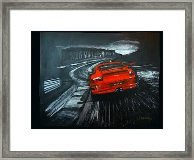 Porsche Gt3 Le Mans Framed Print